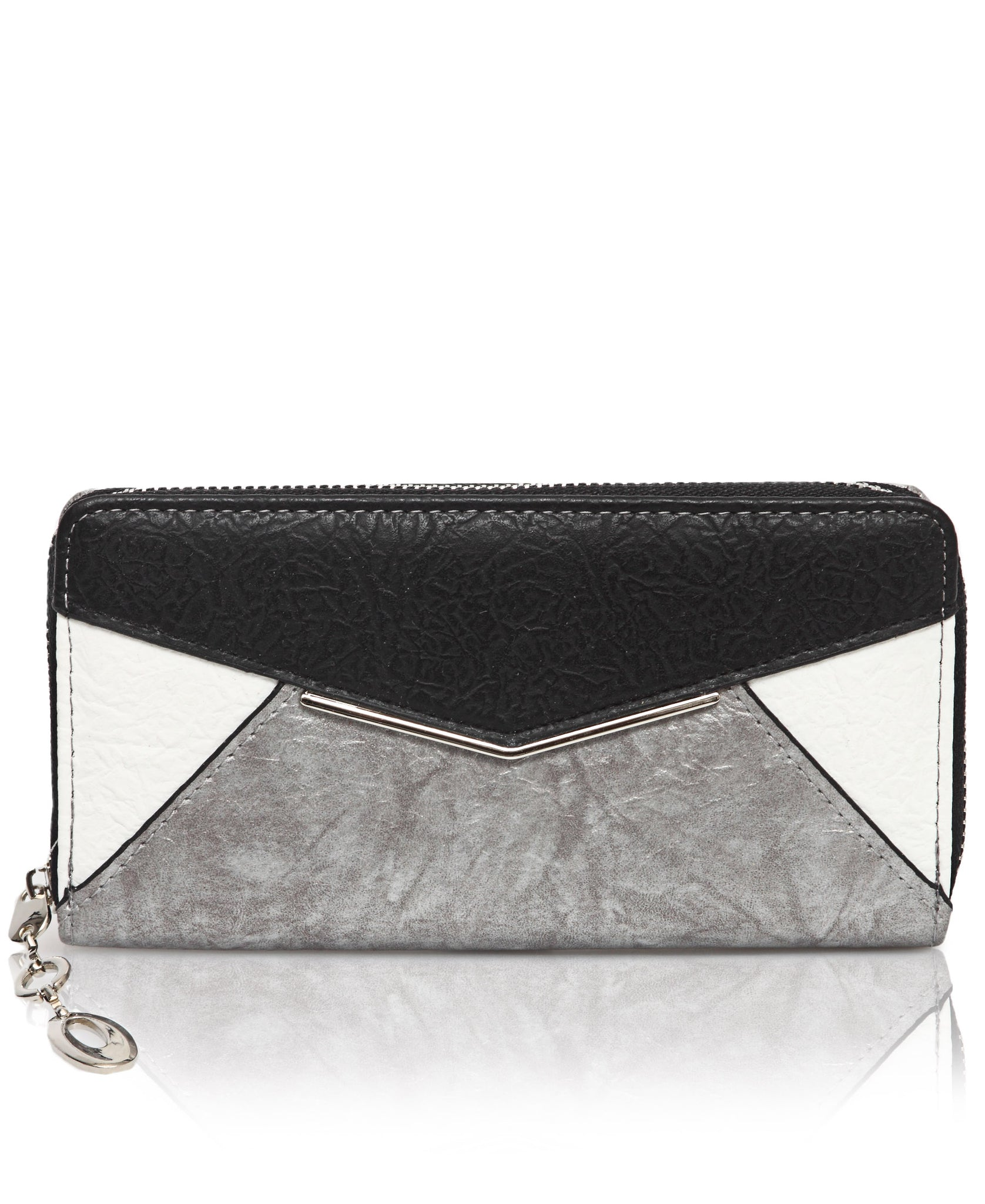 Zip Around Wallet - Silver