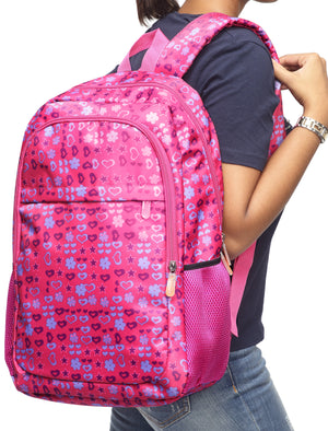 Printed Backpack - Pink