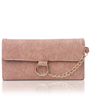 Fold Over Wallet - Pink