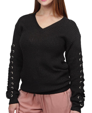 Knitted Jersey - Black