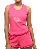 Cotton Lycra Short Pyjama Set - Fuschia