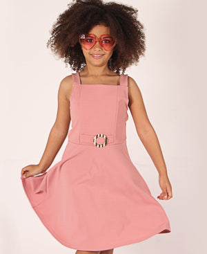 Girls Strappy Dress - Pink