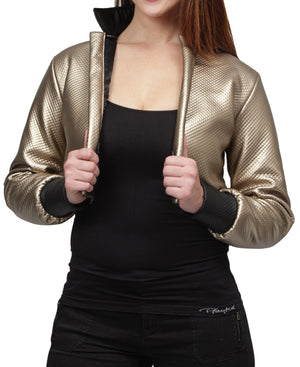 Cropped Jacket - Gold