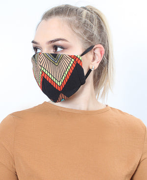 Shweshwe Face Mask - Orange