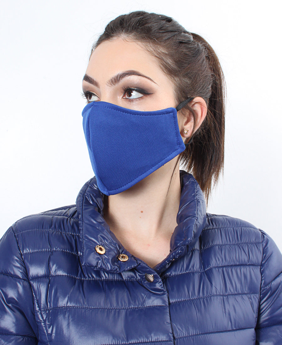 1 x 3ply Royal Blue Scuba Mask - Royal Blue
