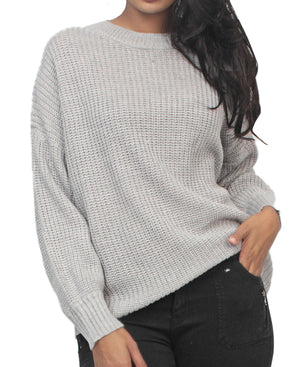 Loose Knit Sweater - Grey
