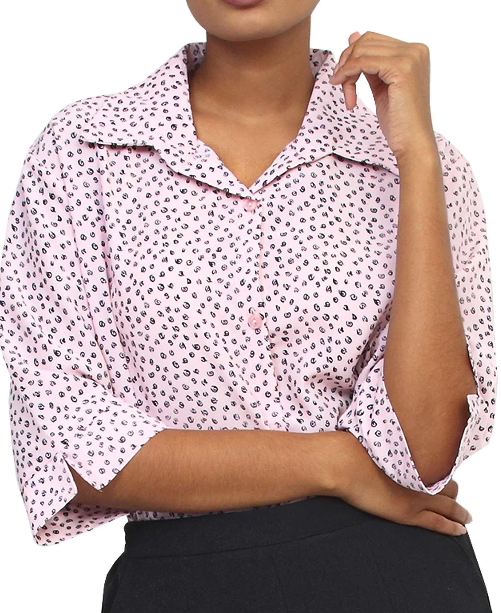 3/4 Sleeve Blouse - Pink
