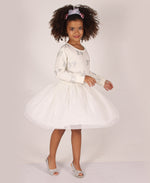 Girls Mesh Dress - White