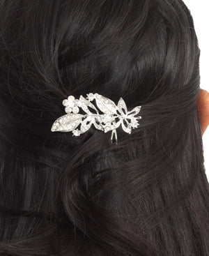 Side Comb Hair Clip - Silver