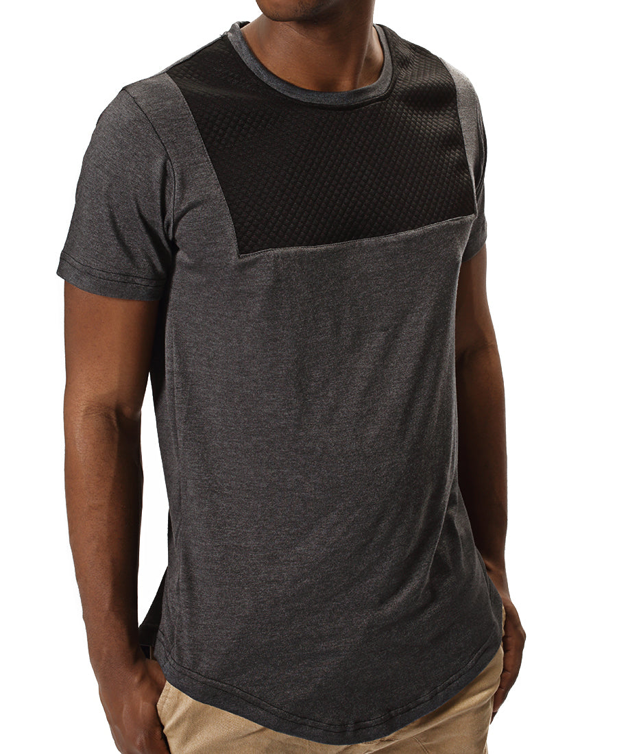 Longer Length Tee - Grey