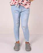 Girls Ripped Jeans - Light Blue