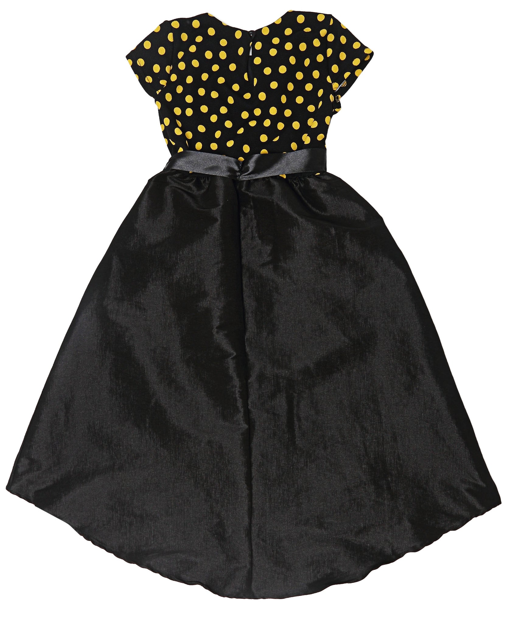 Girls Polkadot Dress - Black