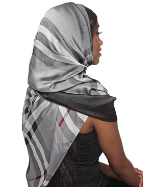 Silk Scarf - Grey