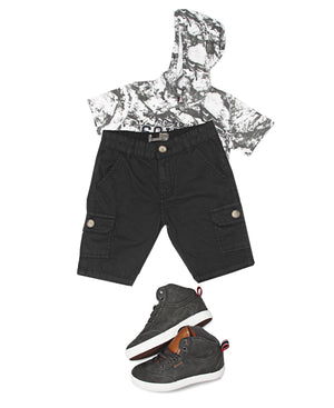 Boys Cargo Shorts - Black