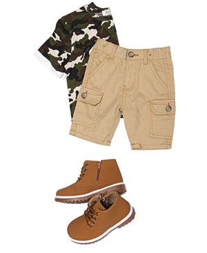 Boys Cargo Shorts - Khaki