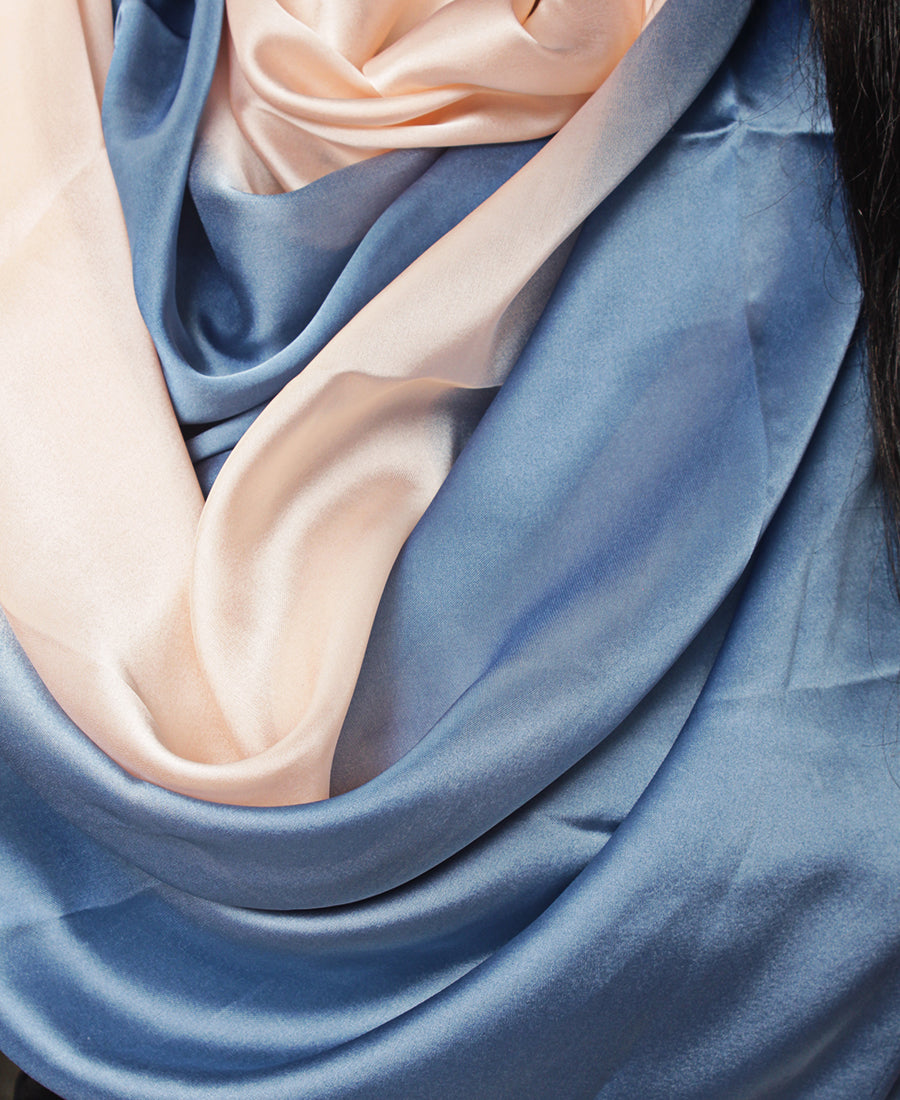 Silk Scarf - Blue