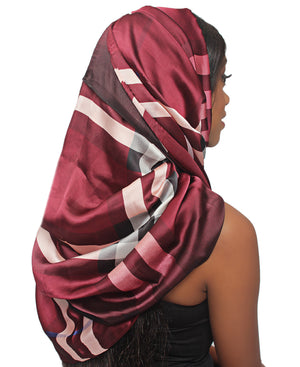Silk Scarf - Burgundy
