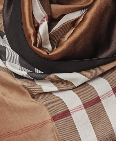 Silk Scarf - Taupe