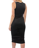 Zip Front Dress - Black