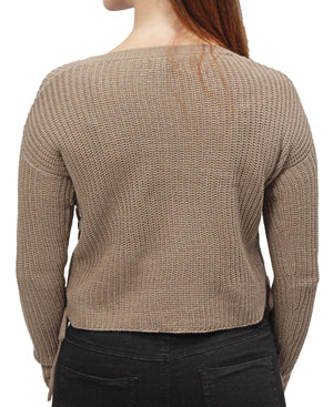 Loose Knit Sweater - Taupe
