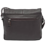 Genuine Leather Satchel Bag - Choc