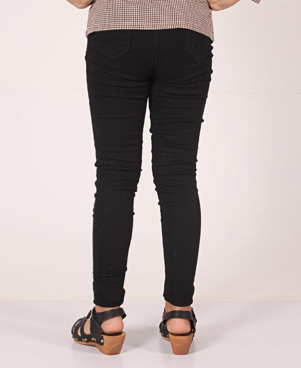 Girls Plain Leggings - Black