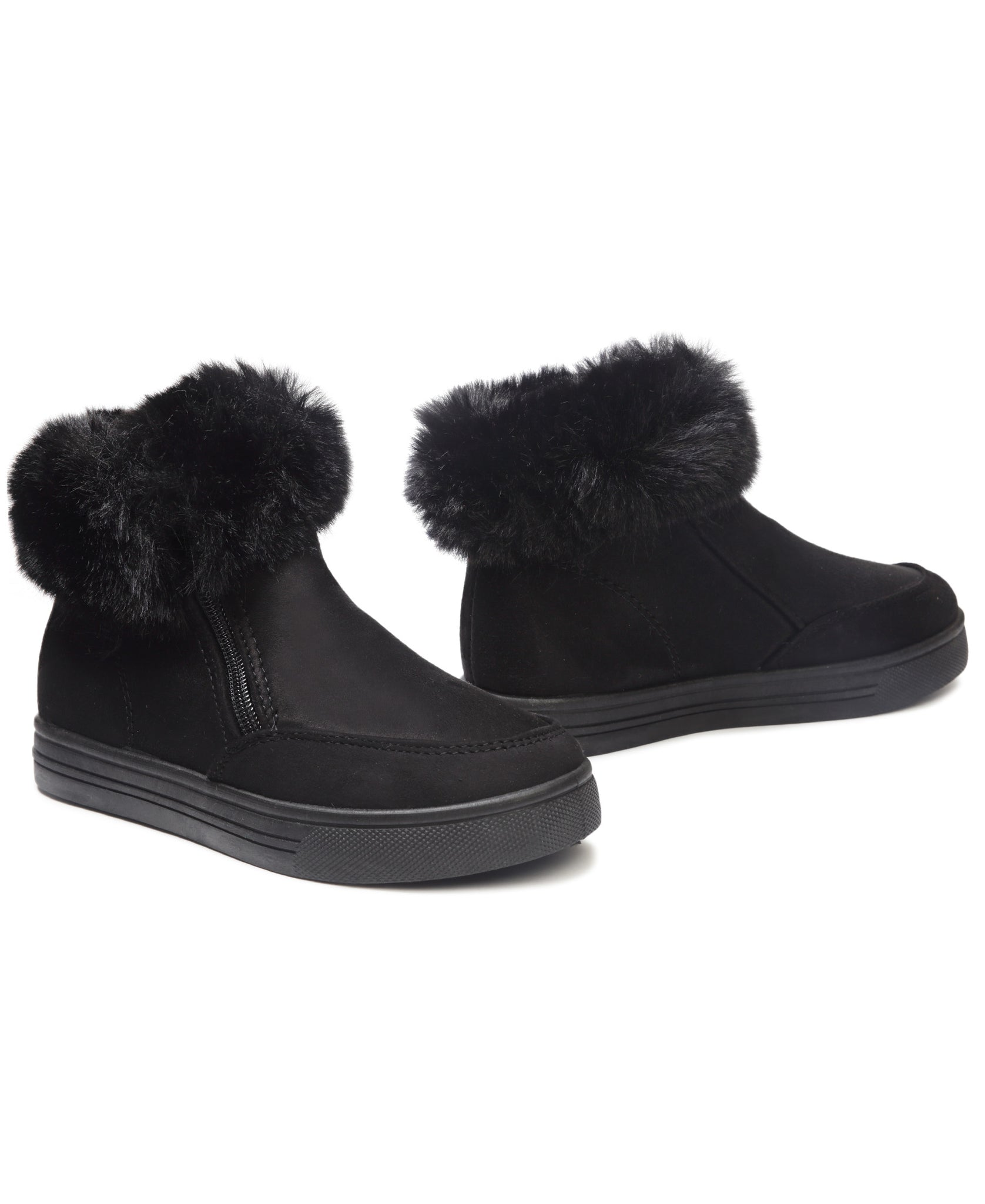 Girls Fluff Sneakers - Black