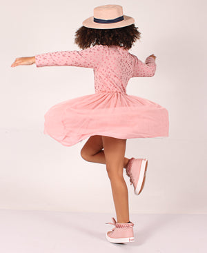 Girls Mesh Dress - Pink