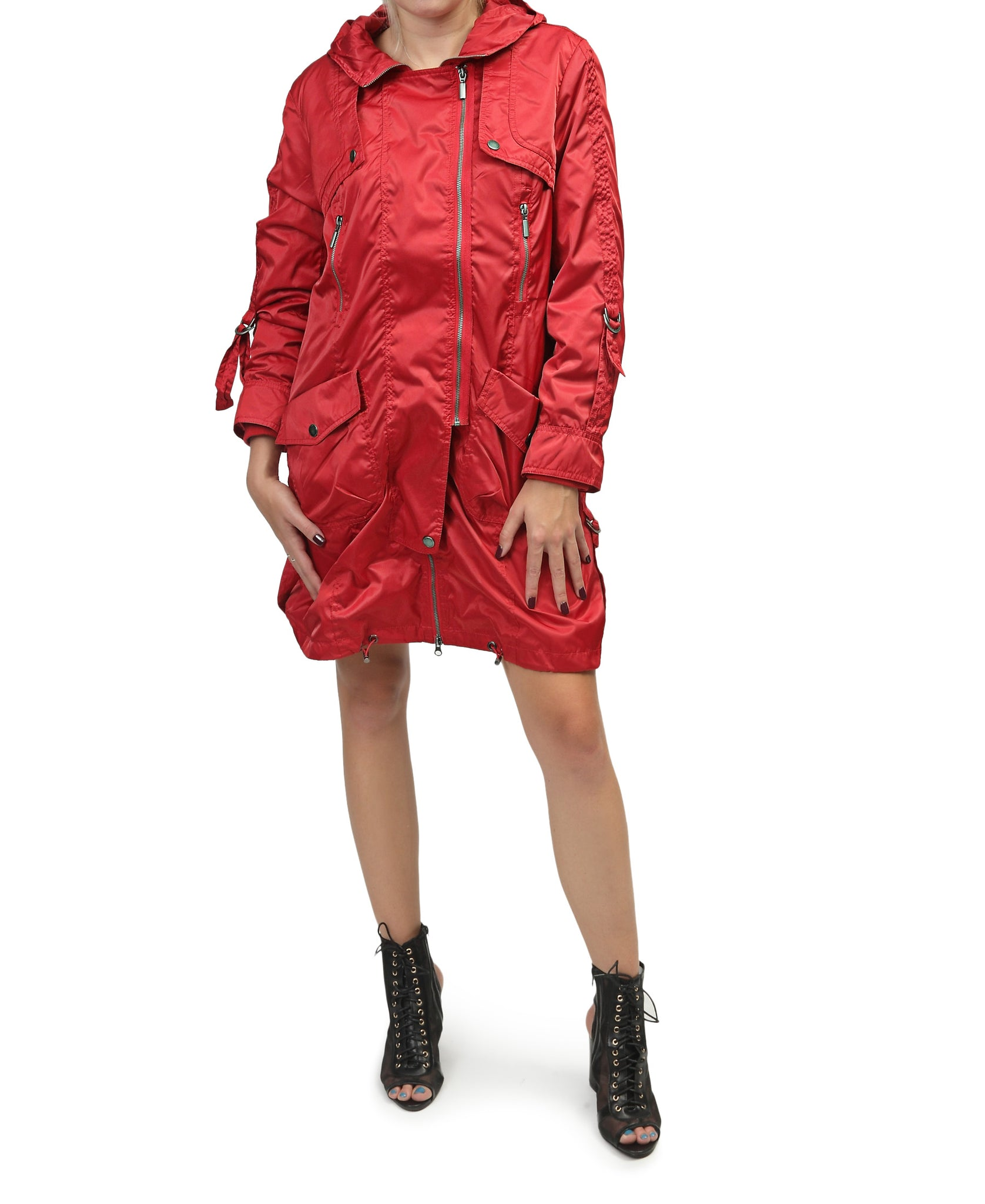 2 Piece Cargo Jacket - Red