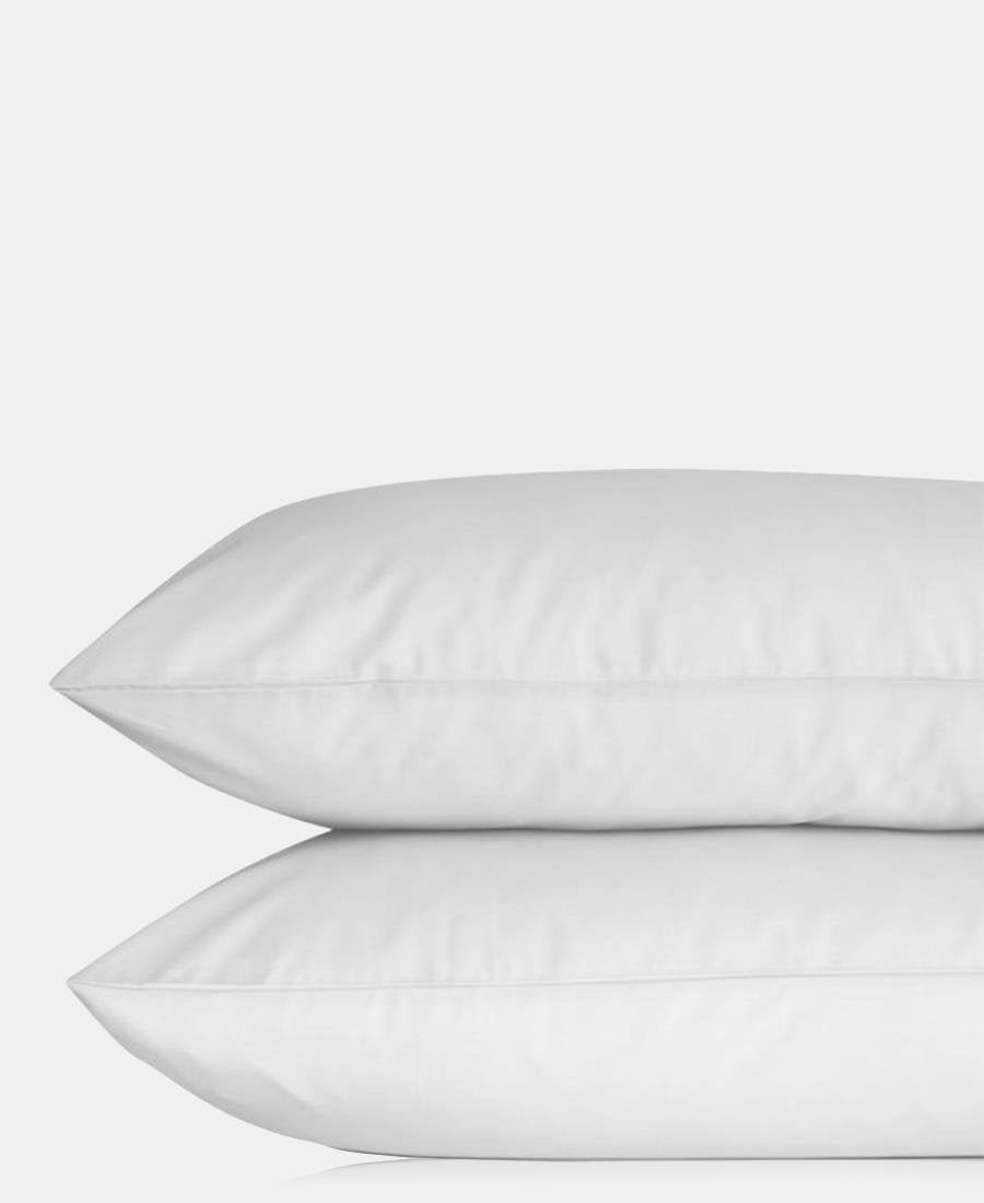 2 Pack Plain Pillowcases - White
