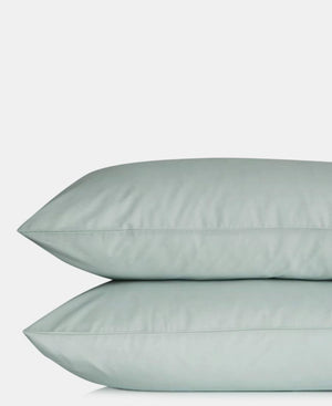 2 Pack Plain Pillowcases - Duck Egg