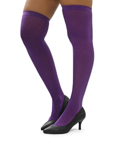 Plain Stockings - Purple