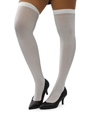 Plain Stockings - White