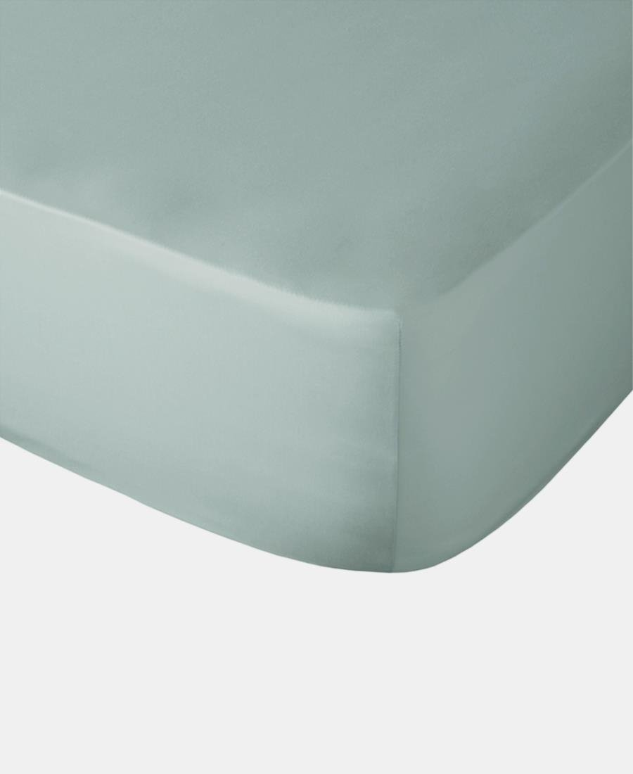 Polycotton Fitted Sheet - Duck Egg