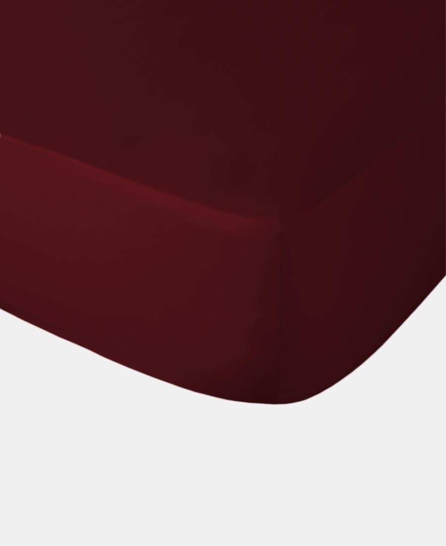 Polycotton Fitted Sheet - Wine