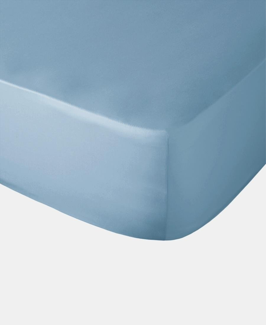 Polycotton Fitted Sheet - Denim
