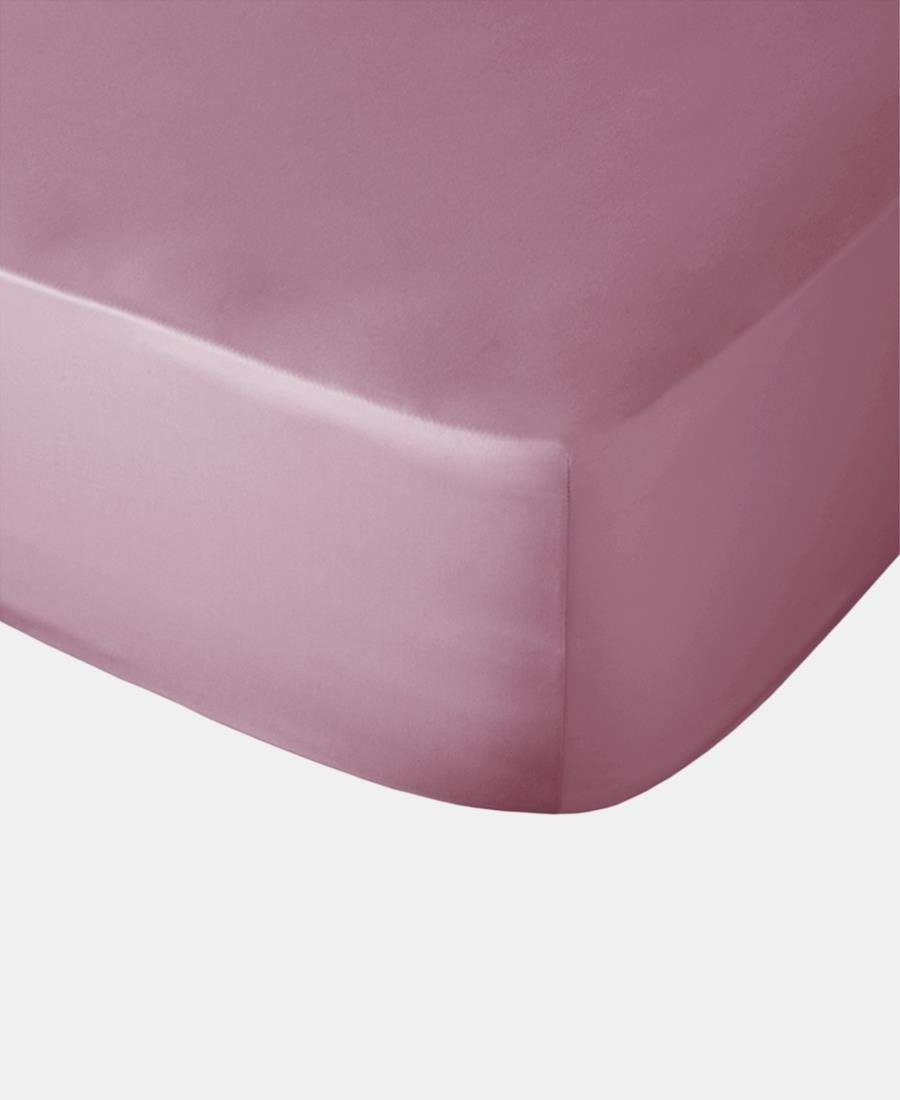 Polycotton Fitted Sheet - Mauve