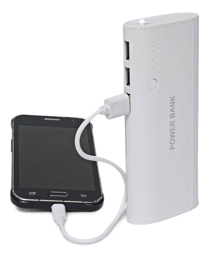 10000MAH Power Bank - White