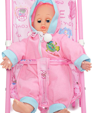 Pram And Doll Set - Pink