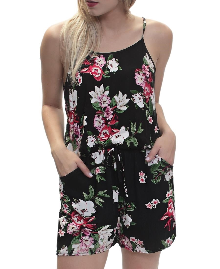 Floral Jumpsuit - Black
