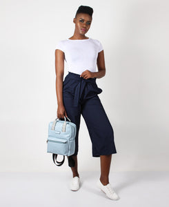 Paper Bag Capri Pants - Navy
