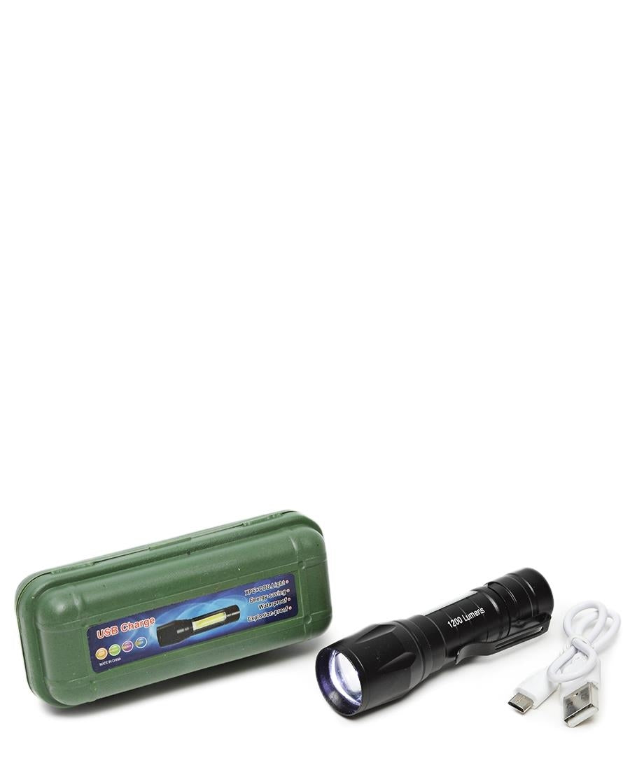 Rechargeable Torch - Black