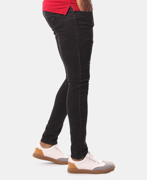 Men's Straight Skinny Jeans - Black