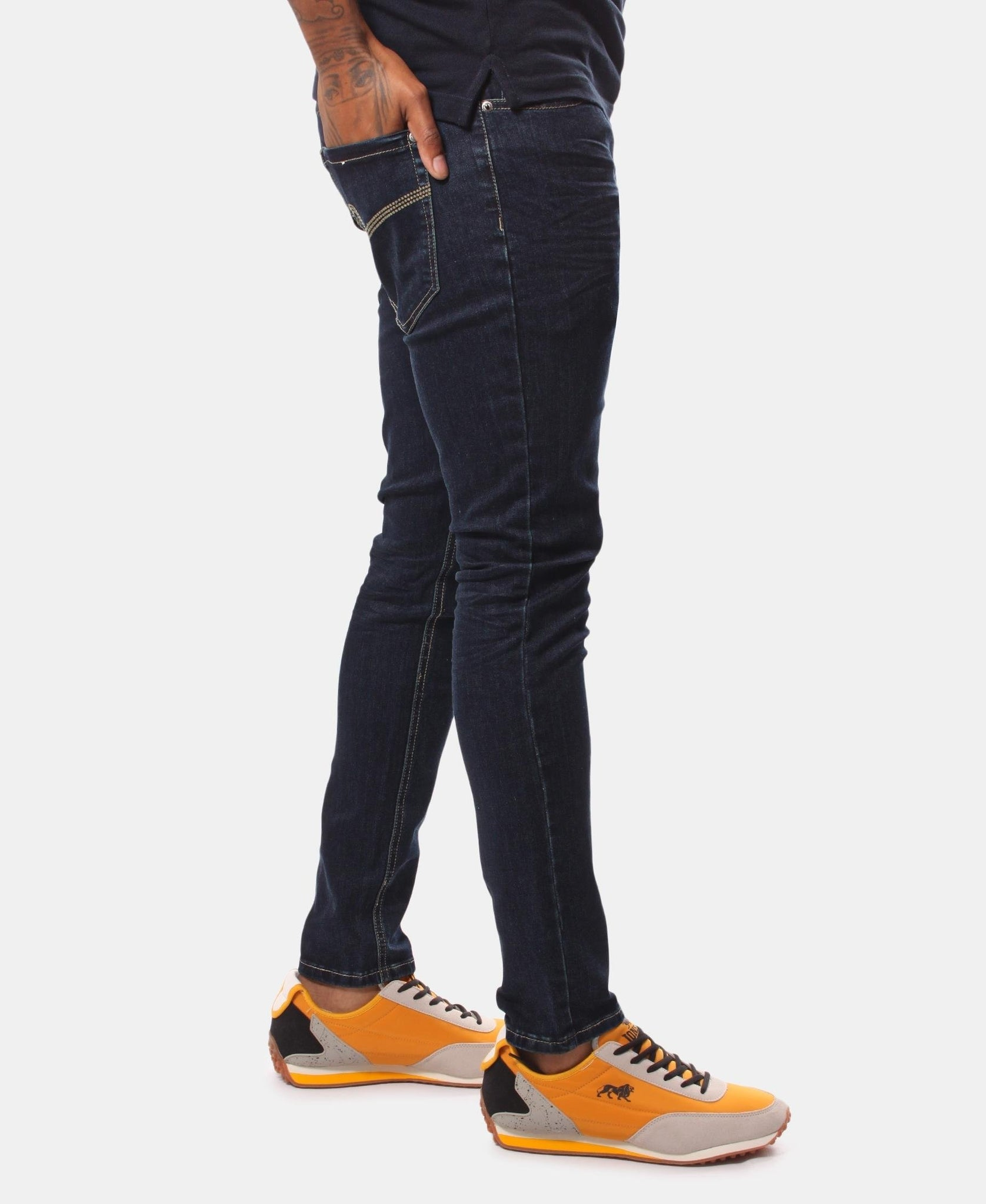 Men's Straight Skinny Jeans - Navy