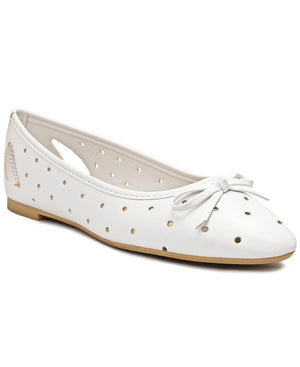 Lazer Cut Pumps - White