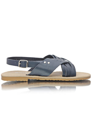 Ladies' Crossover Sandals - Navy