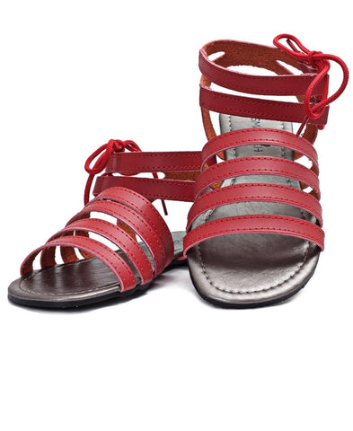 Strappy Sandals - Red