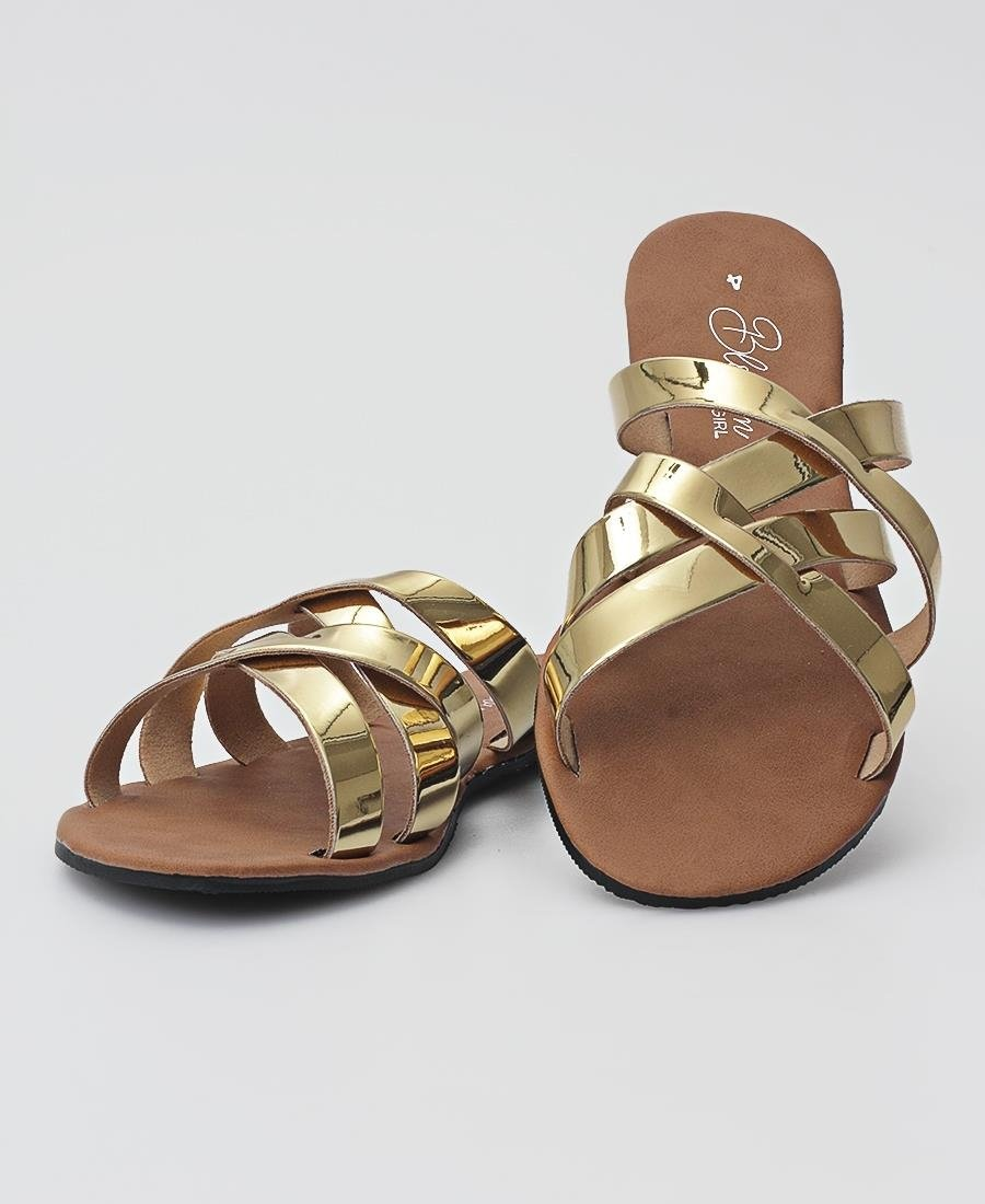 Strappy Sandals - Gold