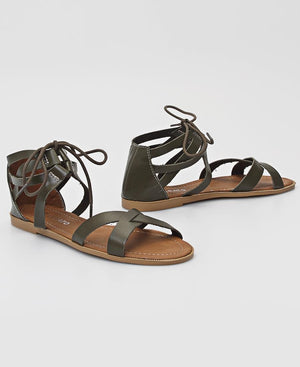 Strappy Sandals - Olive