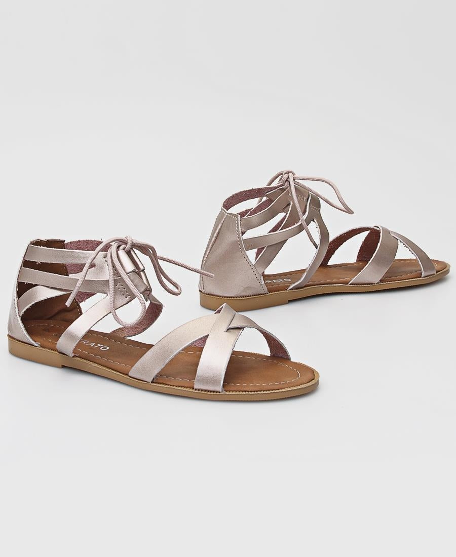 Strappy Sandals - Rose Gold